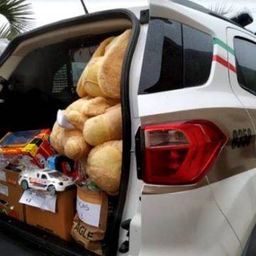 """Quase 300 crianças do Alto Vale ganham presentes da Campanha """"Doe carinho, doe um brinquedo"""" da PM"""