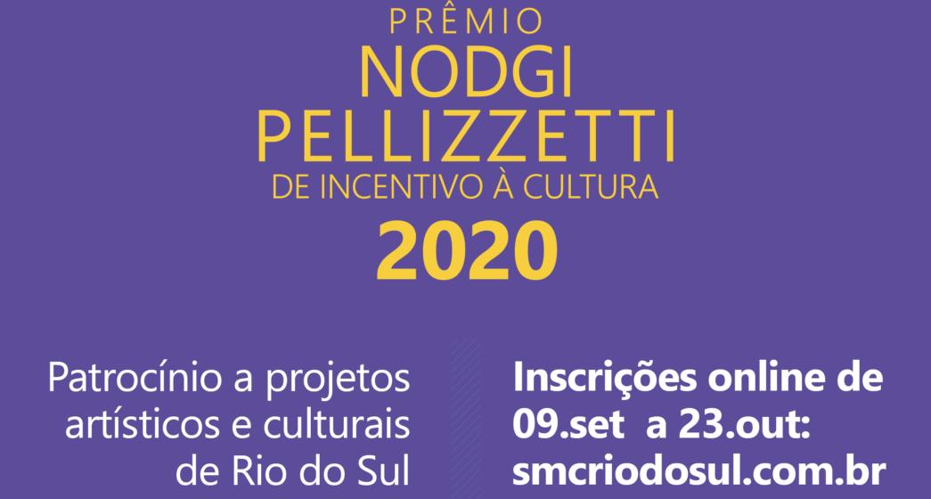 Inscrições para Prêmio Nodgi Pellizzetti de Incentivo à Cultura encerram na sexta-feira