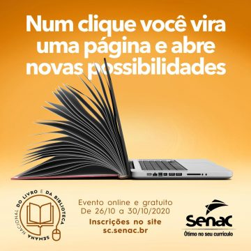 Senac promove programação da Semana do Livro e a Biblioteca
