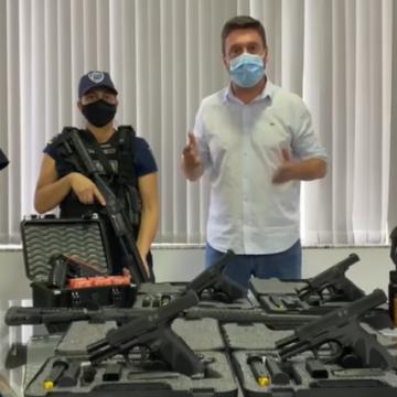 Guarda Municipal recebe armamento novo