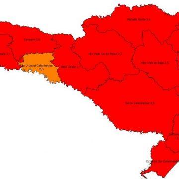 Governo de SC e Secretaria de Saúde divulgaram os dados da Matriz de Risco Potencial para contaminação por coronavírus