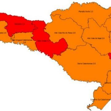 Alto Vale permanece na classificação de risco grave para contaminação por coronavírus