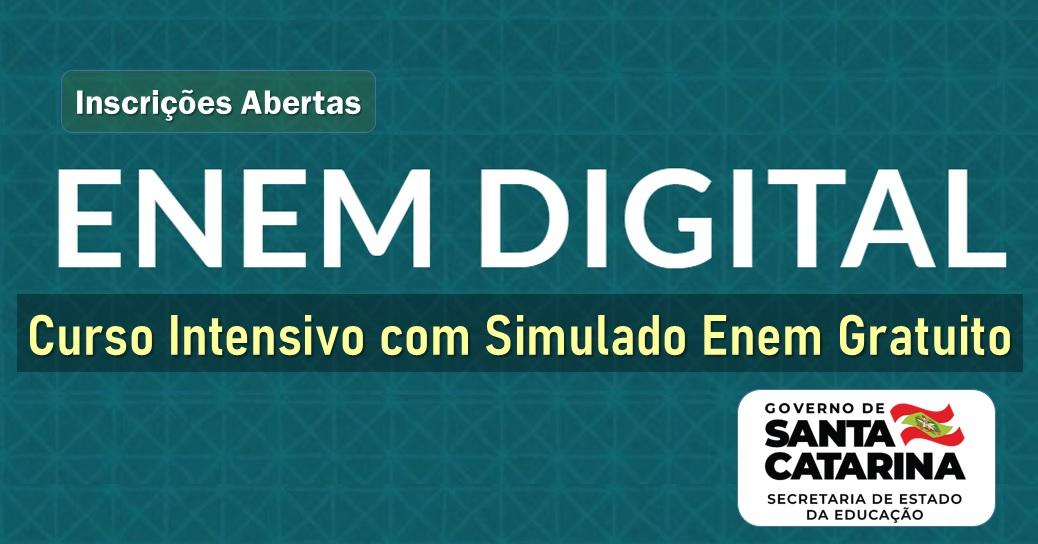 Inscrições abertas para o simulado do Enem digital em SC