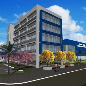 Construção da nova sede da Amavi, Ucavi e Câmara de Vereadores de RSL está com 70% dos trabalhos concluídos