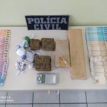 Polícia Civil prende casal de Ituporanga por tráfico de drogas, associação para o tráfico e corrupção de menores