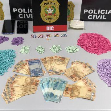 Polícia Civil faz maior apreensão de drogas sintéticas do ano na região de Rio do Sul/SC