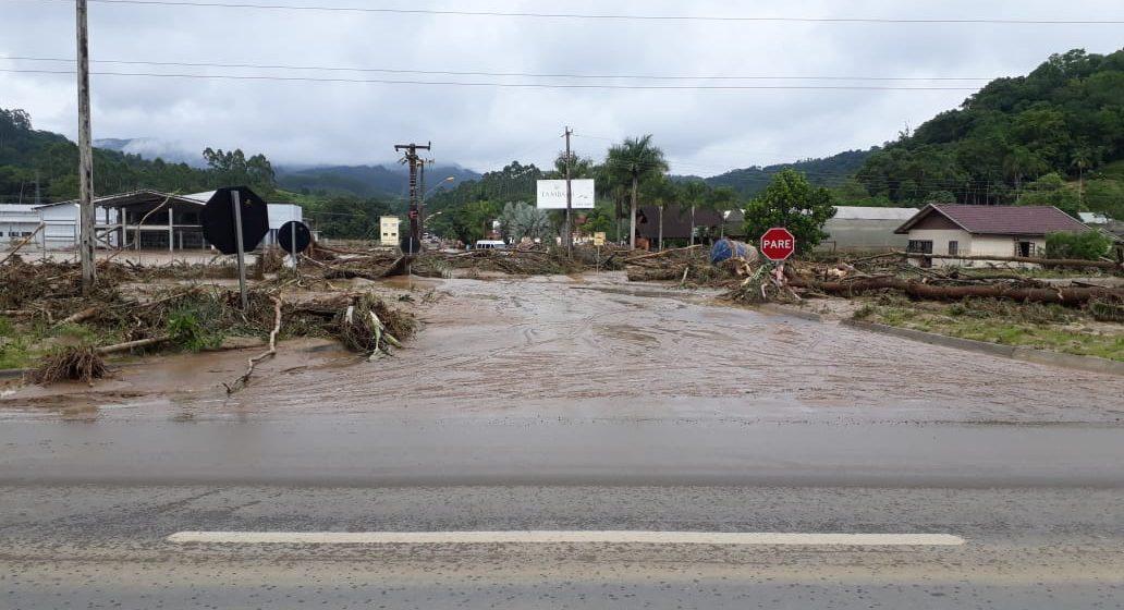 Também por causa das chuvas, uma pessoa segue desaparecida em Ibirama