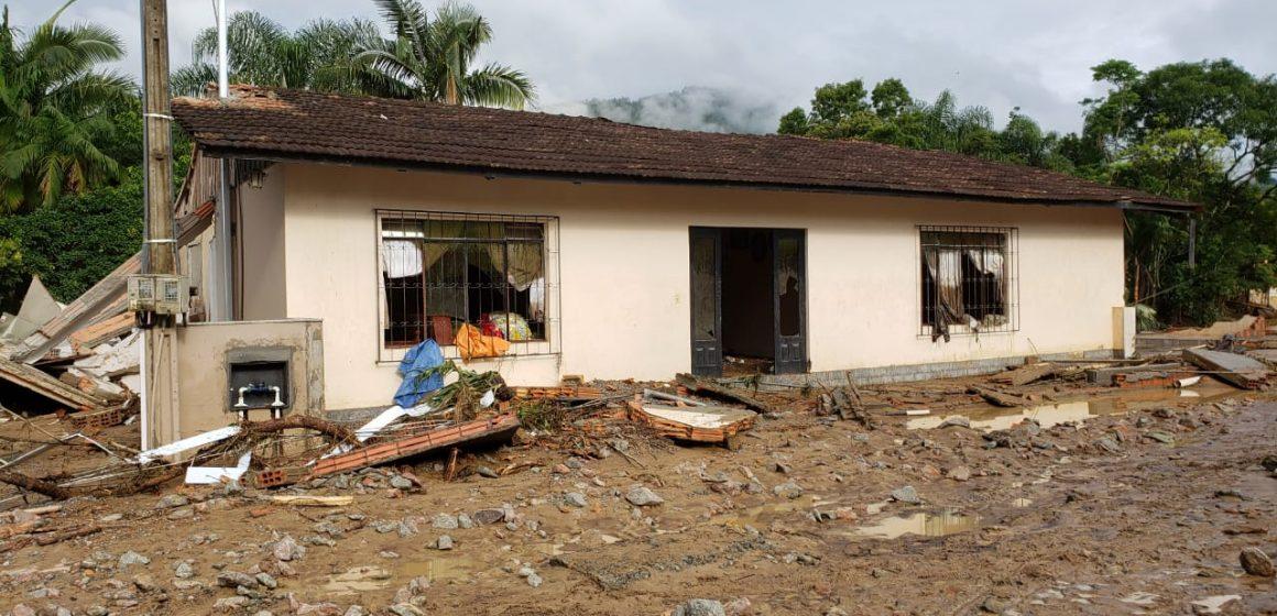 Em Rio do Sul, umas das localidades mais atingidas pelo temporal foi a Valada São Paulo