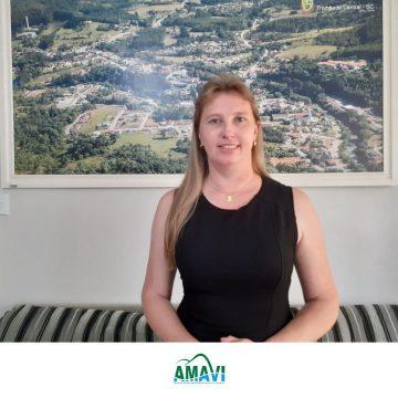 Geovana Gessner, prefeita de Trombudo Central, vai presidir a Amavi em 2021