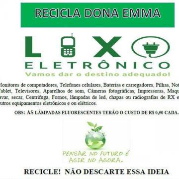 Dona Emma realizará mais uma ação de recolhimento de lixo eletrônico