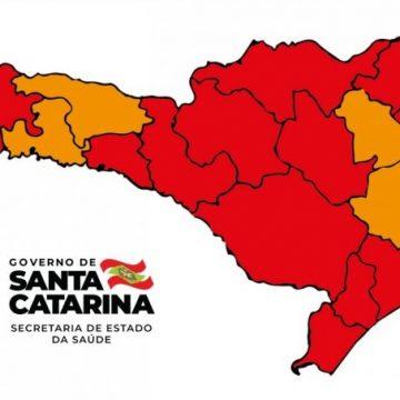 Matriz de Risco aponta melhora em quatro regiões catarinenses, mas, Alto Vale permanece em condição gravíssima para contaminação por coronavírus
