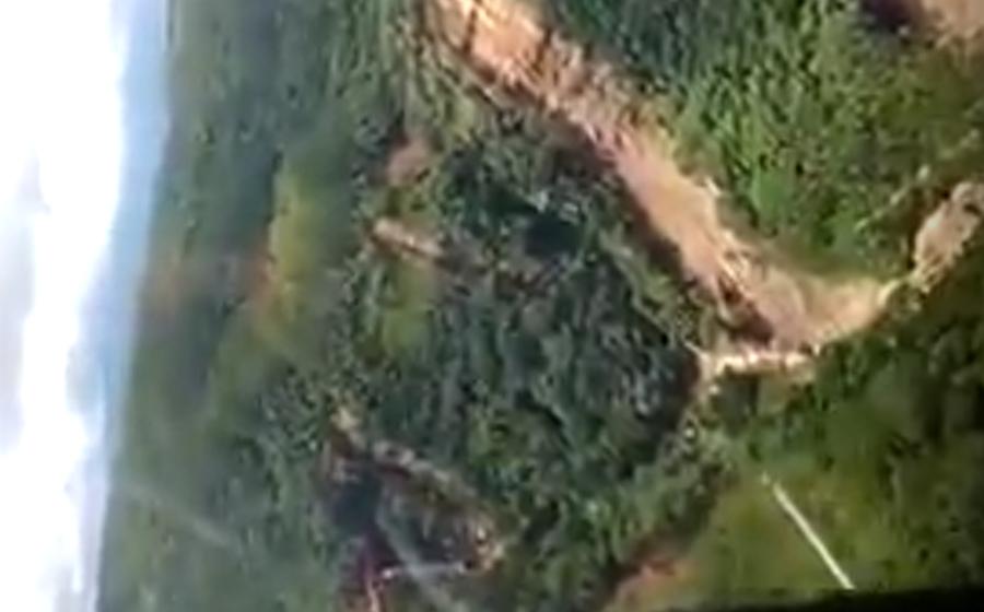 Corpo de Bombeiros Militar sobrevoar áreas atingidas em Presidente Getúlio