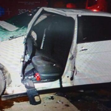 Duas pessoas ficam gravemente feridas em colisão na BR-470, em Lontras