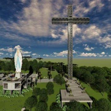 Imagem de 40 metros de Nossa Senhora de Lurdes, em Ituporanga, ainda não tem data para ser inaugurada