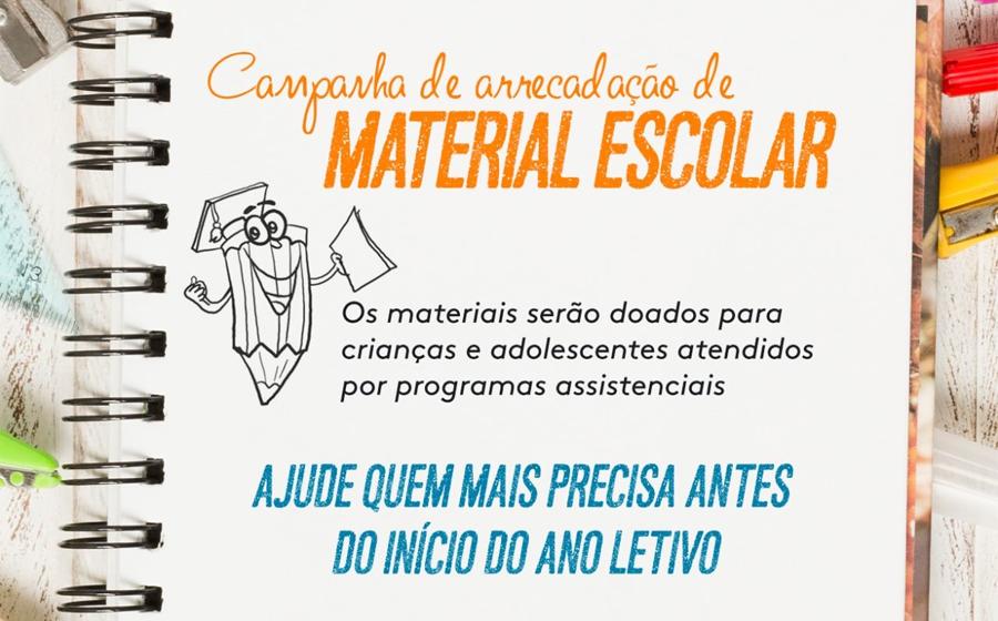 Assistência Social de Rio do Sul realiza campanha de doação de material escolar