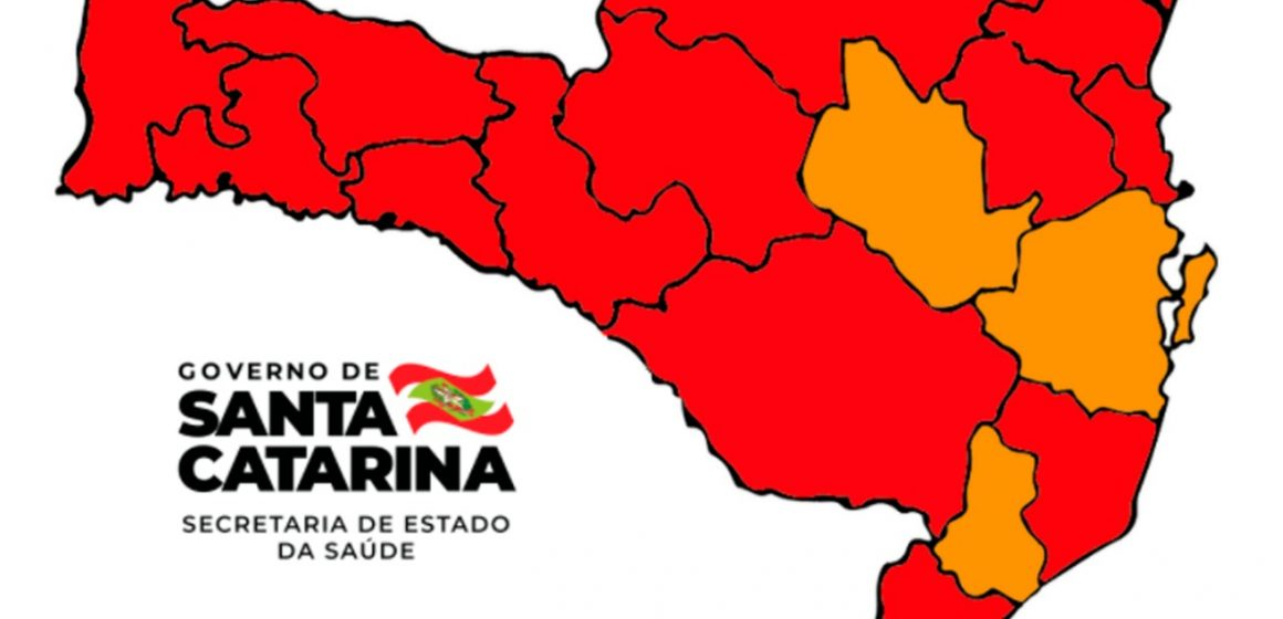 Alto Vale é uma das três regiões do Estado que se mantém em nível grave para infecção do coronavírus