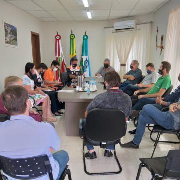 Lideranças indígenas de José Boiteux se reúnem com autoridades para discutir o plano de contingência e atuação da Defesa Civil