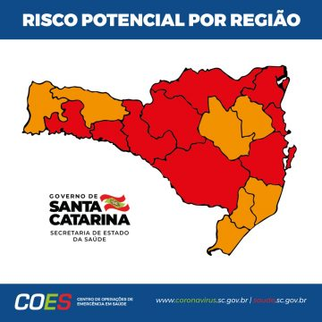Covid-19: Alto Vale segue classificado como grave no novo mapa de risco