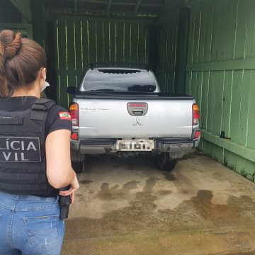 Polícia Civil de Taió recupera caminhonete furtada em Balneário Camboriú