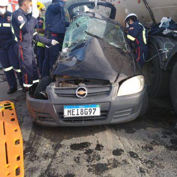 Duas pessoas morrem em acidente na SC-350, em Aurora