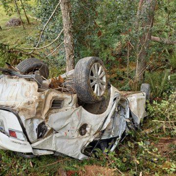 Uma pessoa morre e duas ficam feridas em acidente de trânsito na SC-110, em Imbuia