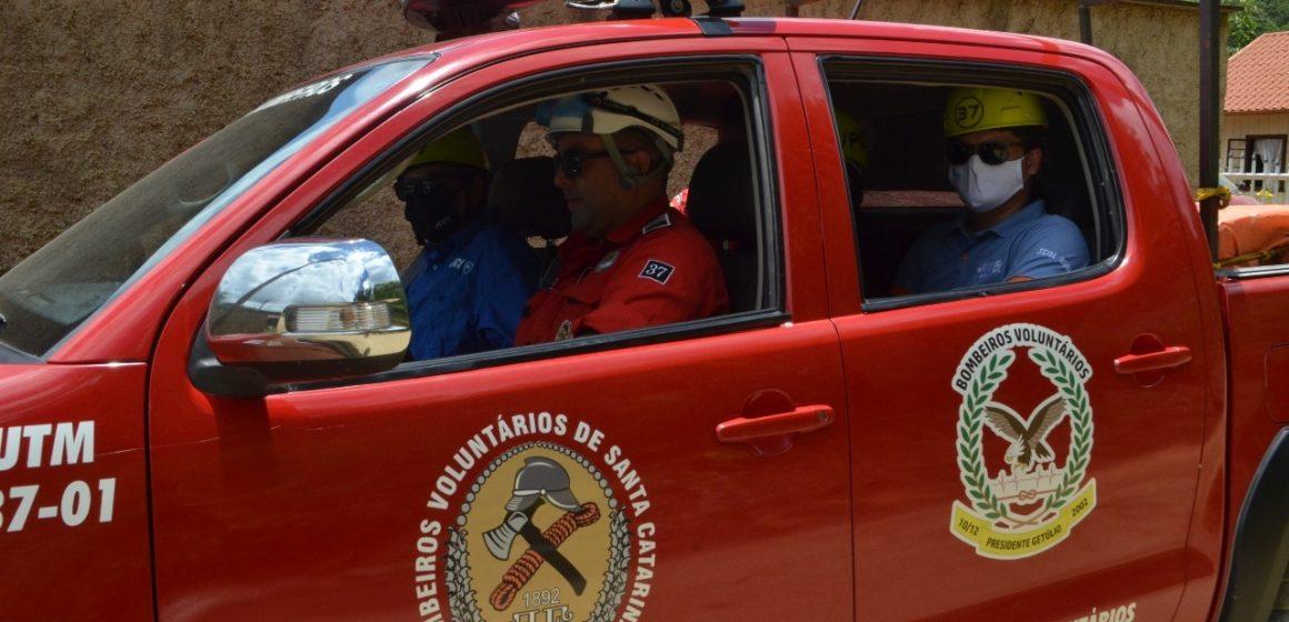Bombeiros Voluntários de Presidente Getúlio realizam simulado na tarde de sábado