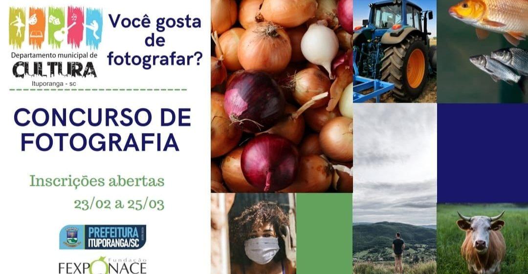 Estão abertas as inscrições para o Concurso de Fotografia de Ituporanga
