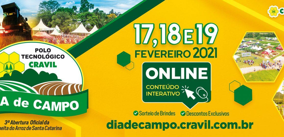 Cravil realiza a partir desta quarta-feira a Décima Terceira edição do Dia de Campo