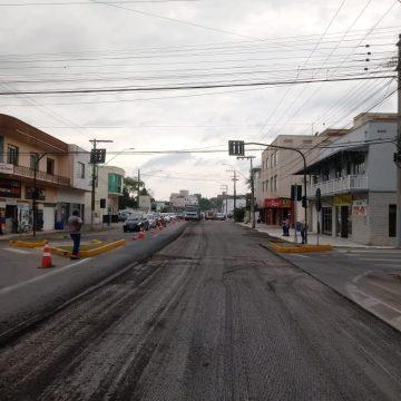 Obras no centro de Rio do Sul continuam no fim de semana