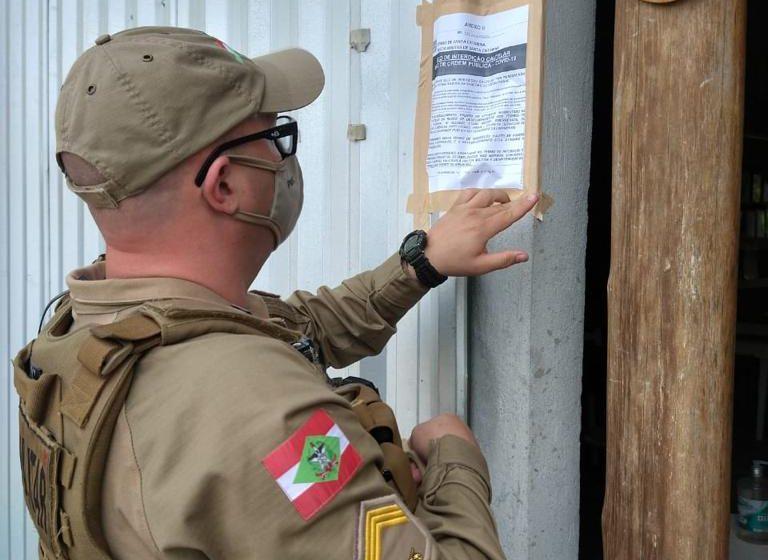 Coronavírus: PM interditou dois estabelecimentos da região nas últimas horas