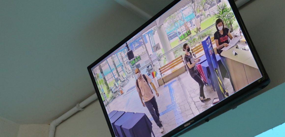 Unidavi instala, nos acessos da instituição, câmeras que captam a temperatura das pessoas