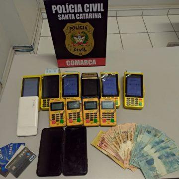 Após prisão de dupla, polícia civil de Rio do Sul investiga envolvimento criminosos no golpe do motoboy