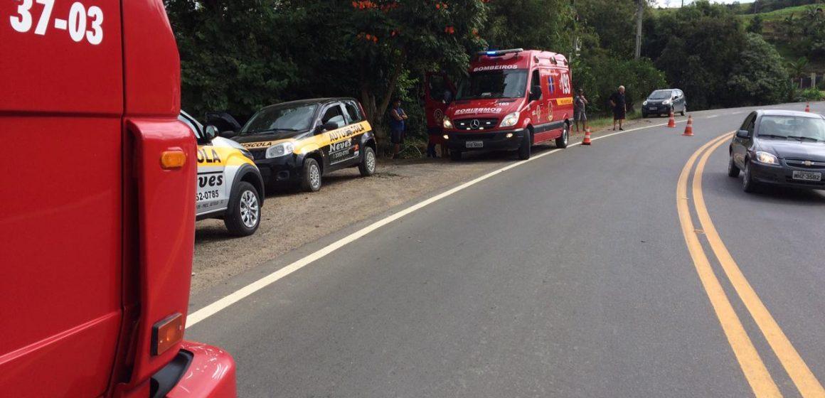 Três pessoas ficam feridas após acidente em Witmarsum