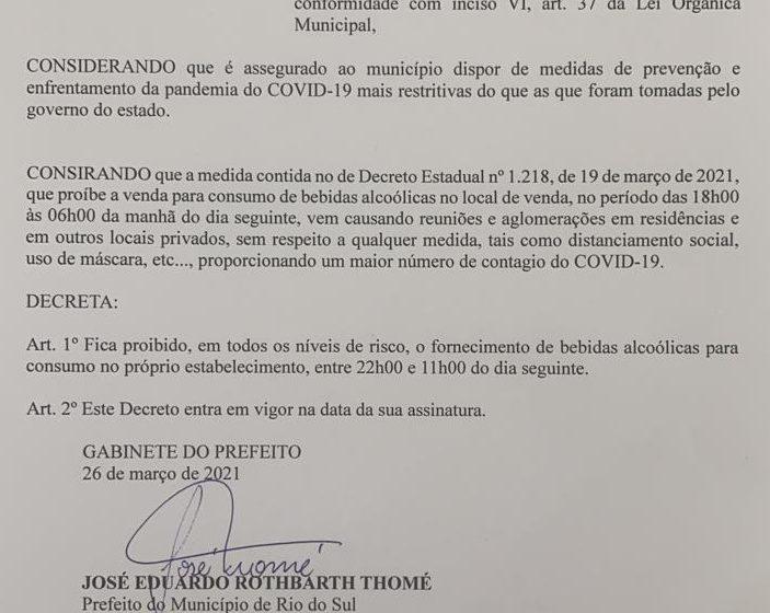 Apesar de decreto municipal, setores de segurança continuarão fiscalizando medidas do governo do Estado sobre o consumo de bebidas em estabelecimentos após às 18h