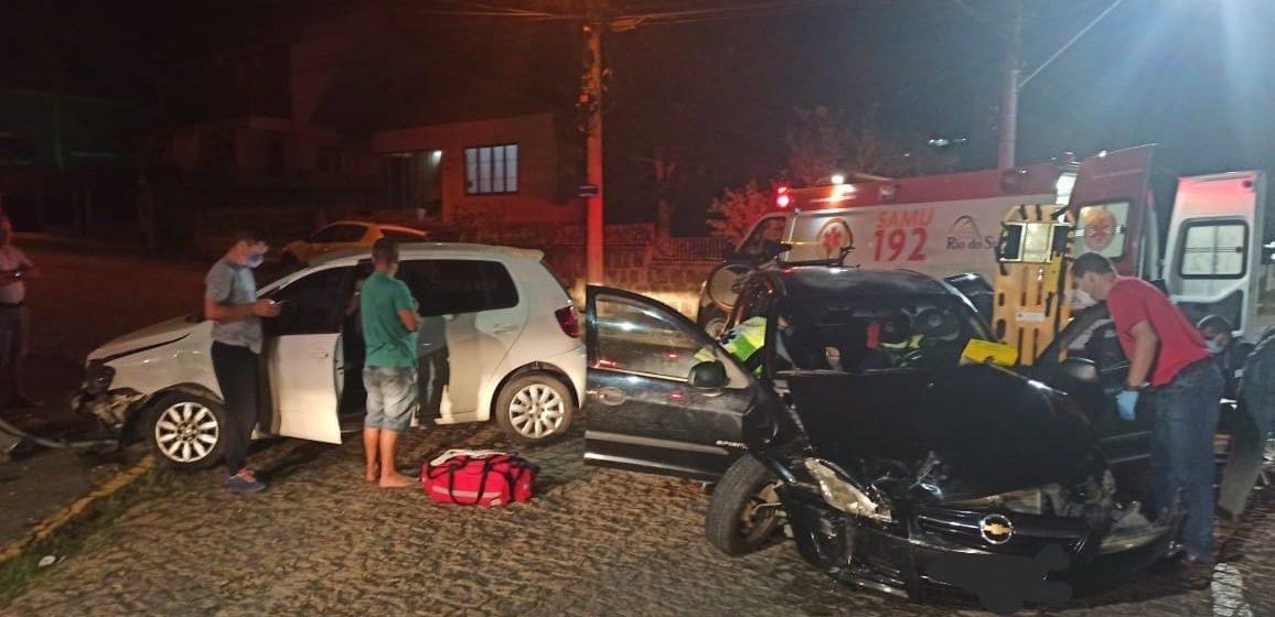 Duas pessoas ficam feridas em acidente de trânsito, em Rio do Sul