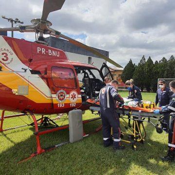 Batalhão de Operações Aéreas resgata dois adolescentes após acidente em Taió