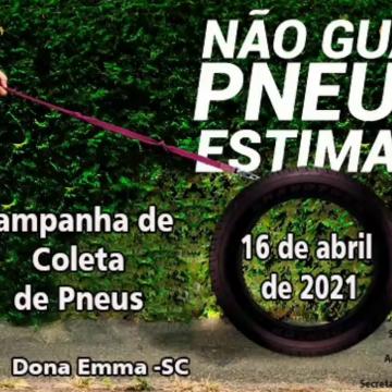 Dona Emma realizará a 2ª edição da Campanha de Coleta de Pneus Usados