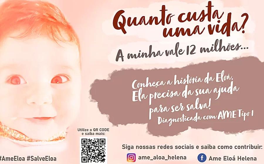Grupo de Mães se mobiliza para arrecadar recursos para criança de Ibirama que precisa de medicamento de R$ 12 milhões