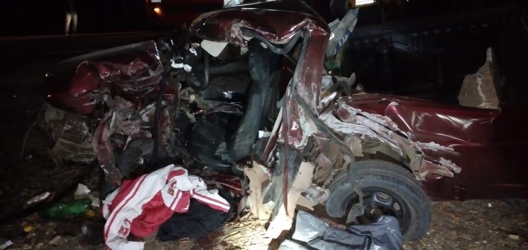 Duas pessoas morrem em acidente na SC-114 em Taió