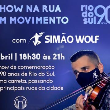Artistas vão percorrer bairros de Rio do Sul em homenagem pelos 90 anos da cidade
