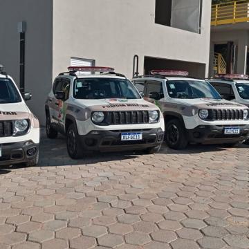 Polícia Militar recebe 14 novas viaturas, durante passagem do Governador de SC pelo Alto Vale