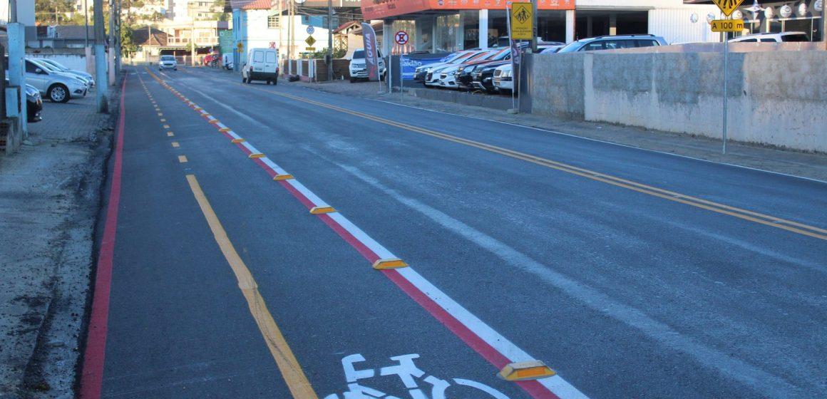 Revitalização da rua Dom Pedro II, no bairro Canoas, é concluída