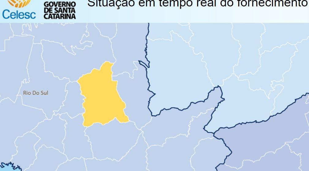 Mais de 300 unidades ficam sem energia elétrica em Rio do Sul