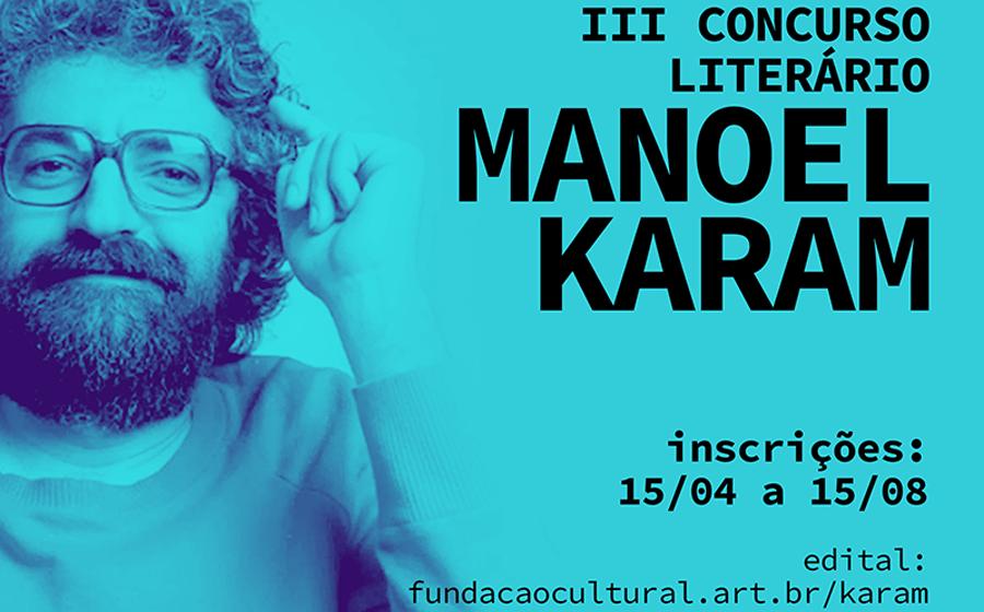 Terceira edição do Concurso Literário Manoel Karam está com inscrições abertas até 15 de agosto