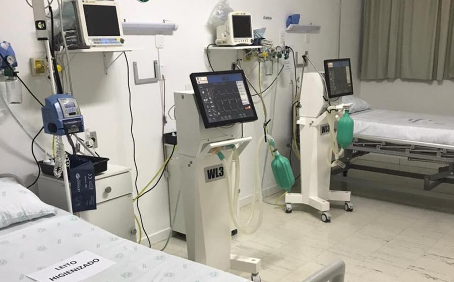 Novos leitos para pacientes com Covid-19, no Hospital Waldomiro Colautti, foram todos ocupados em menos de 24 horas