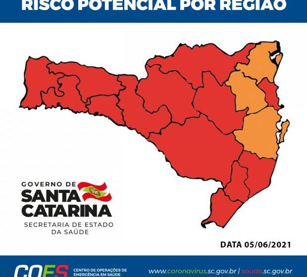 Região é classificada mais uma vez como risco gravíssimo para o coronavírus