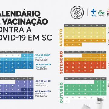 Catarinenses maiores de 18 anos serão vacinados contra Covid até o fim de outubro