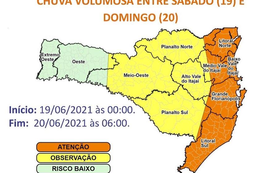 Com chuvas do fim de semana, Defesa Civil monitora condições dos rios e possíveis deslizamentos