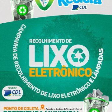 CDL de Trombudo Central realiza coleta de lixo eletrônico
