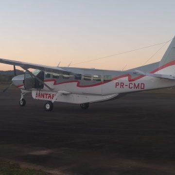 Aeroporto de Lontras recebe o primeiro voo no estilo de táxi aéreo depois da reforma